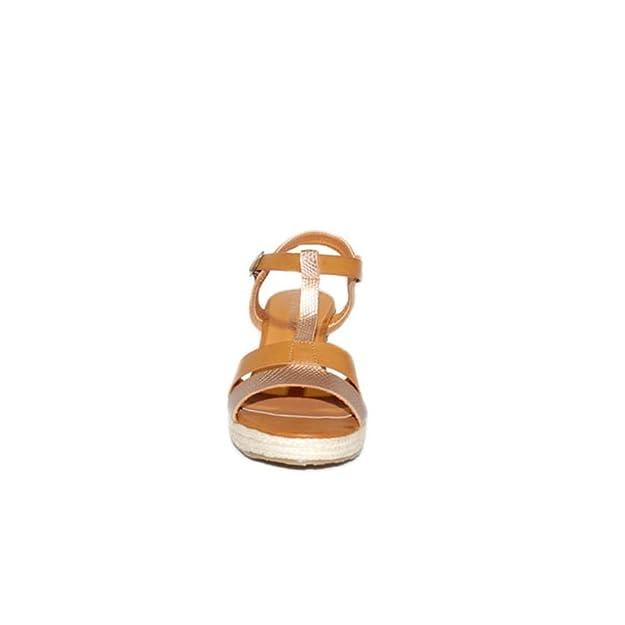 PEZZANO - PEZZANO Cuña COMBINADA RX-003 Sandalias Mujer Verano 2018 Cómodas  Casuales Zapatos con Plataforma Moda Zapatos Color Camel  Amazon.es  Zapatos  y ... 0a17560814d9