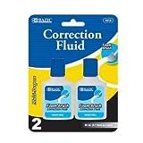 BAZIC 20ml/0.7 fl. oz. Correction Fluid w/ Foam Brush (2/Pk), Box Pack of 24