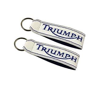 Moto Discovery Triumph cordón Llavero Doble Cara Blanco (1 ...
