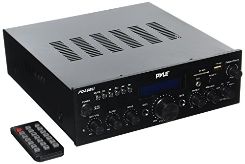 Price comparison product image Pyle PDA6BU 200 Watt Bluetooth Stereo Amplifier Receiver with Remote Control and FM Antenna