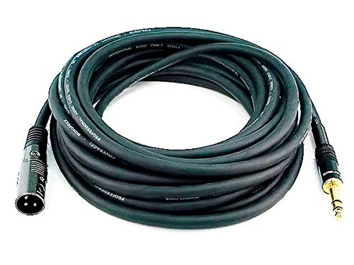 Monoprice 104764 25-Feet Premier Series XLR Male to 1/4-Inch TRS Male 16AWG Cable