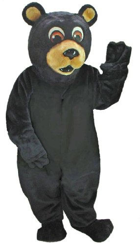 Cute Black Bear Mascot Costume