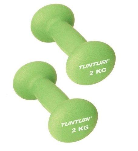 Tunturi - Juego de mancuernas neopreno 2 kg: Amazon.es: Deportes y ...