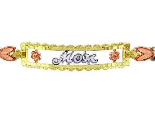 Petits Merveilles D'amour - 14 ct Troix Ton Or Bracelet - MOM Diamant Bracelet