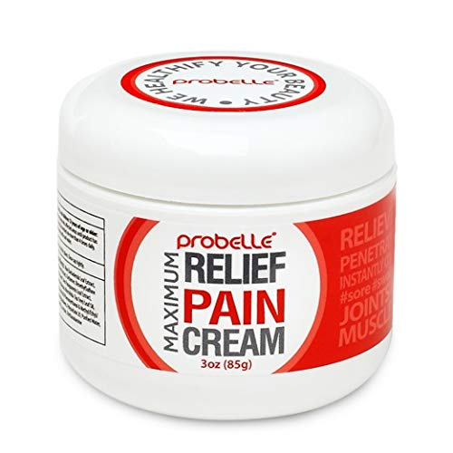 Probelle Maximum Relief Pain Cream, Natural Anti-Inflammatory for a Cool, Speedy Recovery for Arthritis, Back Pain, Muscle Pain. Relieves, Soothes and Relaxes. (3 oz)