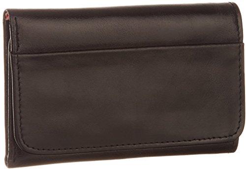 HOBO Vintage Jill Tri-Fold Wallet,Black,One Size (Sheepskin Womens Wallet)