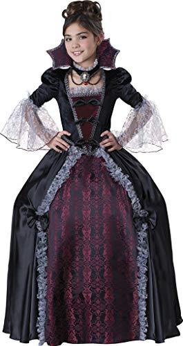 InCharacter Costumes Girl's Vampiress Of Versailles Costume, Black/Red, 12 -