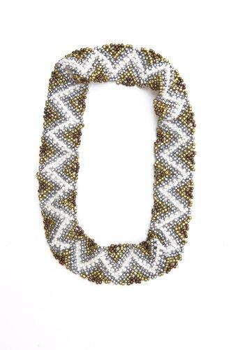 Sizzle City Custom Bling Rhinestone Bohemian Pattern Seed Bead Elastic Stretch Headbands (Native American Seed Bead Headband Style A)