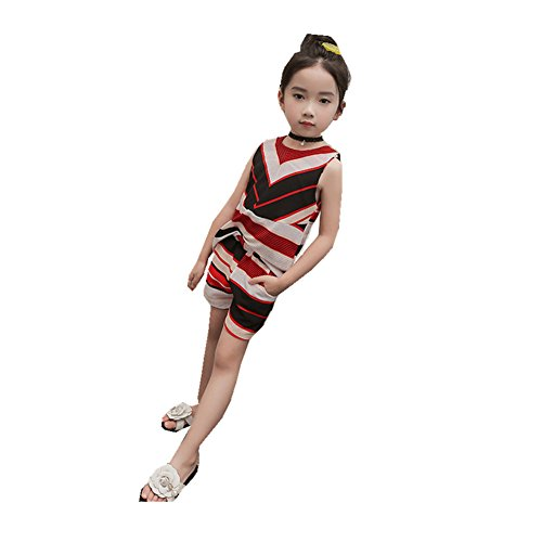 ftsucq-girls-sleeveless-striped-shirt-top-with-shortstwo-pieces-setsred-120