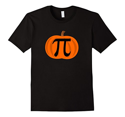 Mens Pumpkin Pi 3.14 Funny Halloween Costume Shirts Medium Black