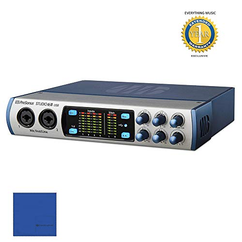 (PreSonus Studio 6|8 USB 6x6 192 kHz, USB 2.0 Audio/MIDI Interface with 1 Year Free Extended Warranty)