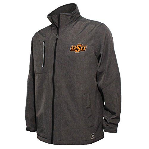 NCAA Oklahoma State Cowboys Men's Bonded Stand Up Collar Stadium Jacket, X-Large, Dark Gray