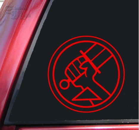 ShadowMajik Hellboy Bureau for Paranormal Research and Defense Vinyl Decal Sticker - Red