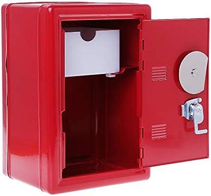 Exing - Caja de Seguridad con 2 Llaves para Guardar Dinero, Metal ...