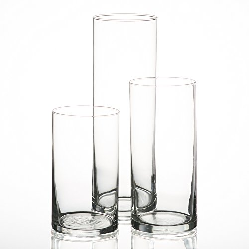 Eastland Cylinder Pillar Candle Vases Set of 3]()