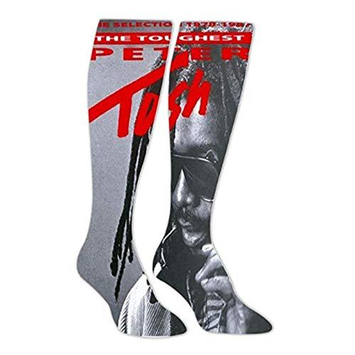 Fashion Three Little Birds_Bob_Marley Long Socks Sport Socks Knee High Thigh Stockings
