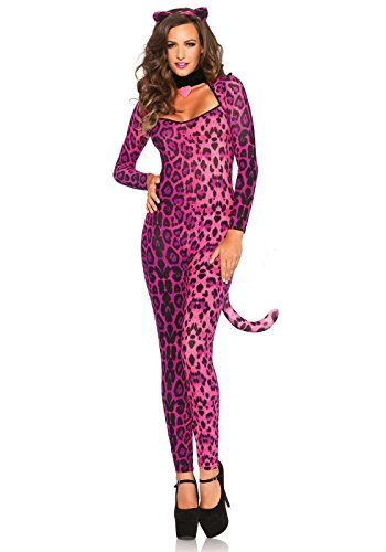 Leg Avenue Women's 3 Piece Pretty Pink Pussycat Costume, Pink, Small