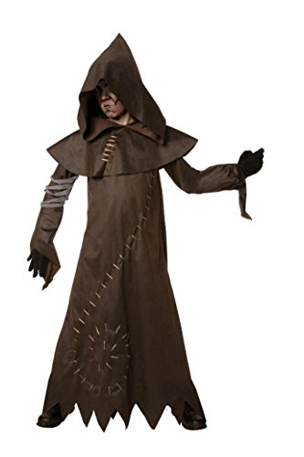 Warlock Evil Costume (Boys Evil Warlock Kids Child Fancy Dress Party Halloween Costume, M)