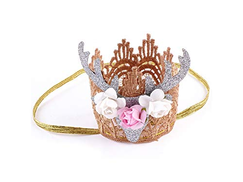 Yunqir Cute Antler Hairband Headband Christmas Party Costume Accessory for Baby(Silver) for $<!--$8.48-->