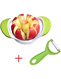 Gain 8-Blades Easy Grip Apple Corer Slicer Cutter Wedger Divider with Ultra-Sharp Stainless Steel Blade + Free Swiss... reviews