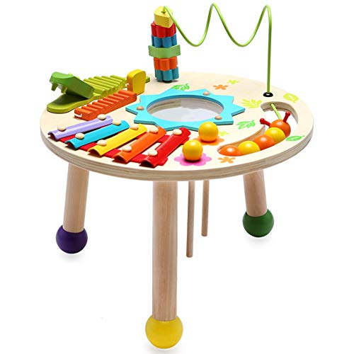MG.QING Knock Piano Music Table Baby Multi-Function Game Table Baby Puzzle Early Education Wooden by MG.QING (Image #1)