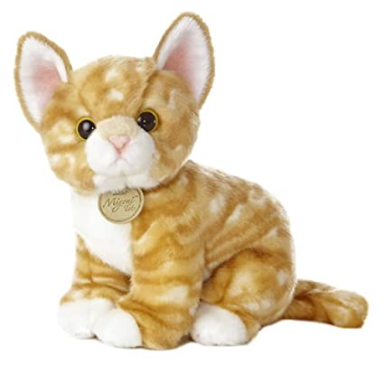 """405baf4f8327 Image Unavailable. Image not available for. Color: Aurora World Miyoni Tots Orange  Tabby Kitten 10"""" Plush"""