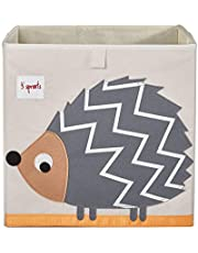 3 Sprouts Cube Storage Box - Organizer Container for Kids & Toddlers - Hedgehog