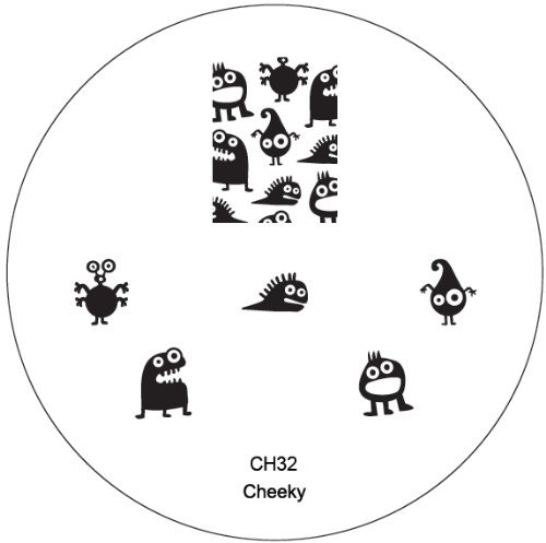 CH32 Professional Nail Art Salon Quality Stamp Template / Stamping Stencil / Image Plate With New Designs By VAGA