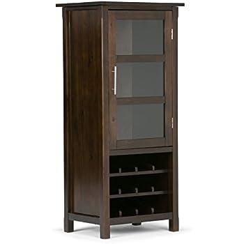 Amazon.com: Simpli Home Avalon High Storage Wine Rack, Rich ...