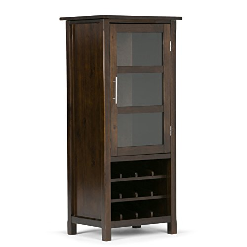 Simpli Home Avalon High Storage Wine Rack, Rich - Simpli Home Avalon Desk