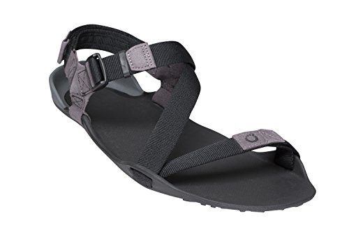 Xero Shoes Z-Trek - Men's Minimalist Barefoot-Insipred Sport Sandal - Hiking, Trail, Running, Walking - Charcoal/Coal Black