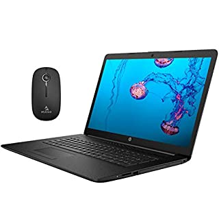 2020 Newest HP Pavilion 17.3 Inch Laptop (Intel Quad-Core i5-8265U up to 3.9 GHz, 16GB RAM, 256GB SSD, Webcam, DVD, Windows 10) (Black) + NexiGo Wireless Mouse Bundle