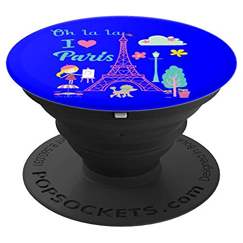 Oh la la I love Paris Eiffel tower French traditions gift - PopSockets Grip and Stand for Phones and Tablets