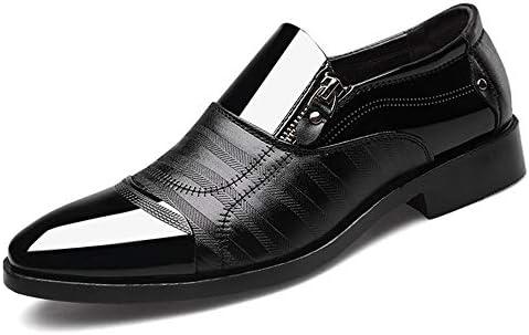 古典的なメンズファッションビジネスオックスフォードカジュアルパテントレザーレジャーシューズで快適なロートップビッグサイズスリップ 快適な男性のために設計