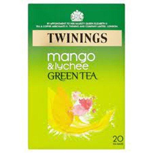 (4 PACK) - Twinings - Green Tea Mango & Lychee   20 Bag   4 PACK BUNDLE