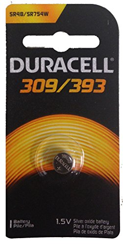10 pcs Duracell 309/393 SR48Watch Calculator 1.5V Silver Oxide Battery by Duracell