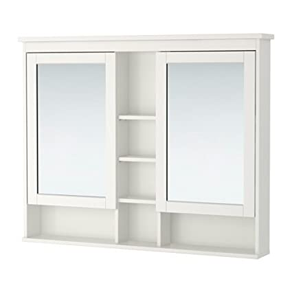 Wondrous Amazon Com Ikea Mirror Cabinet With 2 Doors White 47 1 4X38 Home Interior And Landscaping Transignezvosmurscom