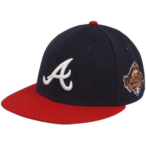 New Era MLB Atlanta Braves Navy Blue 1995 World Series 59FIFTY Fitted Hat (7 1/4)
