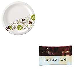 KITDXEUX9WSPKPCO23001 - Value Kit - Papanicholas Coffee 100% Pure Coffee (PCO23001) and Dixie Pathways Mediumweight Paper Plates (DXEUX9WSPK)