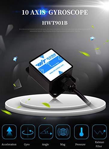 HWT901B TTL 3.3-5V Grado militar 10 ejes magn/ético RM3100 M/ódulo compensaci/ón Sensor 3 ejes Inclin/ómetro /ángulo digital Aceler/ómetro Giroscopio Br/újula Bar/ómetro Soporte PC//Android//MCU Para industria