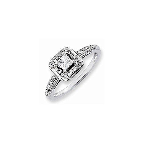 14k Semi-Mounting Wg Engagement Ring, No Center Stone (14k Wg Mountings)
