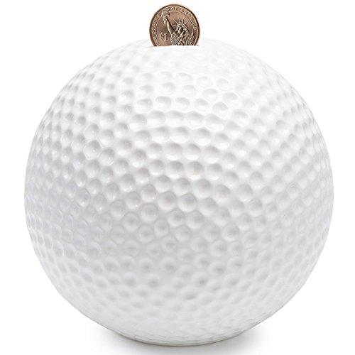 Golf Ball Bank - FORLONG Piggy Bank Ceramic Golf Coin Bank-(4 Designs for Choice Golf/ Basketball/Soccer/Football/) 6.5