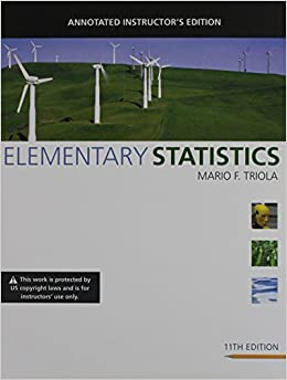 Elementary statistics annotated instructors edition mario f elementary statistics annotated instructors edition mario f triola 9780321570826 amazon books fandeluxe Choice Image