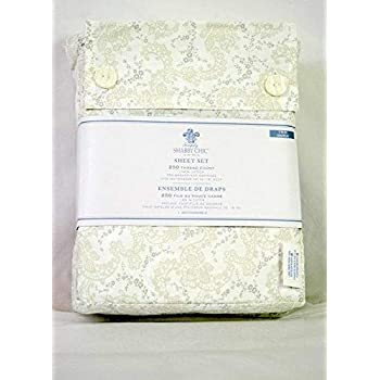 Full//Double Floral Stitch Simply Shabby Chic Sheet Set