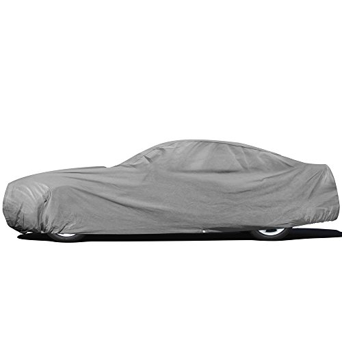 OxGord Car Cover - Basic Out-Door 4 Layers - Tough Stuff - Ready-Fit Semi Custom - Fits up to 229 Inches