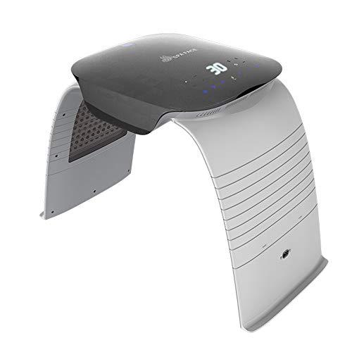 7 Farbe LED Photon Therapie Maschine, mit Heiß kalt Sprühen Sterilisation Licht, Photodynamisch Haut Verjüngung Falten Entfernung Antialterung Schönheit Maschine zum Zuhause Salon,Silber