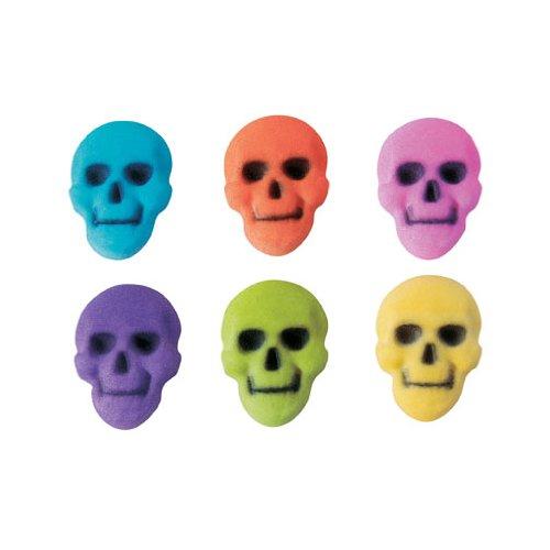 Halloween Colored Skull Assortment Sugar Decorations Cookie Cupcake
