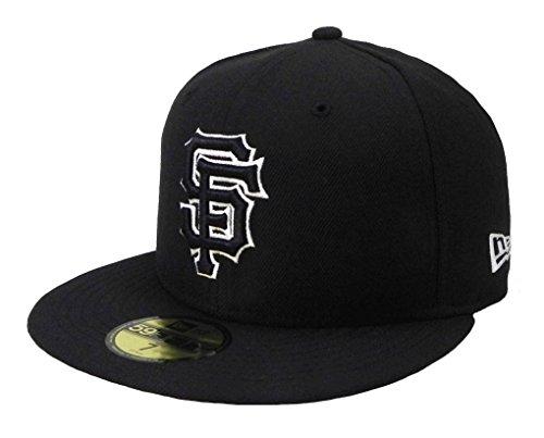 New Era MLB cap San Francisco Giants 59fifty men's headwear black/white fitted hat (7 1/2)