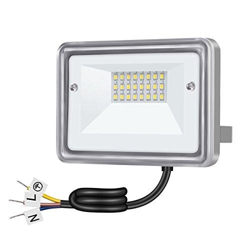 - 10W LED Flood Light, 110V 950LM (100W Equiv.), 3000K Warm White, Outdoor Waterproof Led Security Lights for Yard, Driveway, Garden