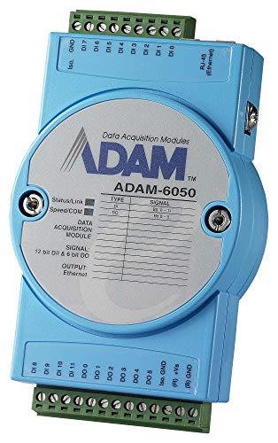 (ADVANTECH ADAM-6050-D I/O Module, ADAM-6050 Series, Digital, Isolated, 18 Channel, 12 Inputs, 6 Sink Outputs, Modbus, TCP)